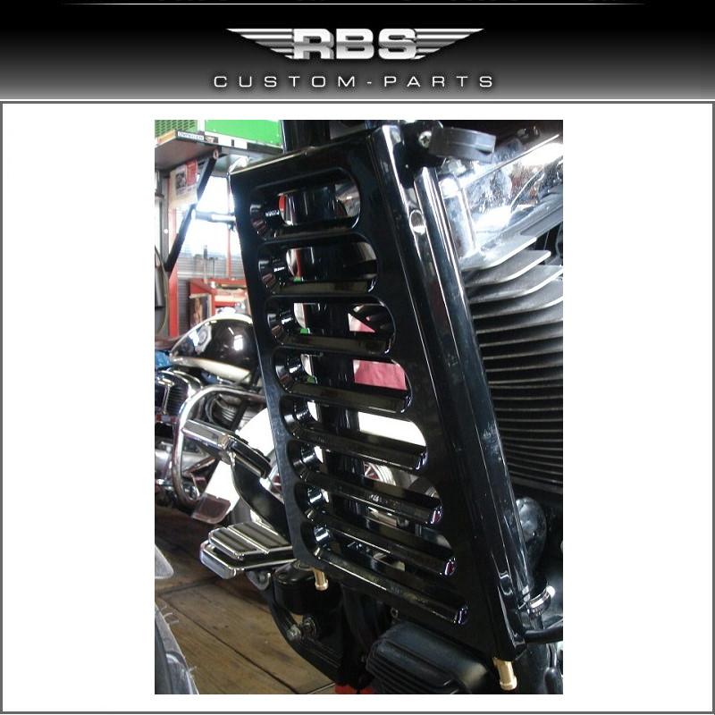 RBS Flachölkühler 29mm Rahmendurchmesser Twin Cam ab Baujahr 2000 hochglanz schwarz beschichtet