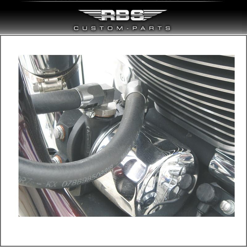 Ölkühlerpaar Custom Style 32mm Rahmendurchmesser Twin Cam ab Baujahr 2000 hochglanz schwarz eloxiert