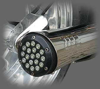 357 Magnum Bullet Style Supertrapp Endkappe hochglanz verchromt