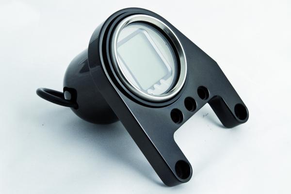 RBS LCD Mini Digital Tachoeinheit für Rockerbox-Zylinderkopf Montage schwarz eloxiert