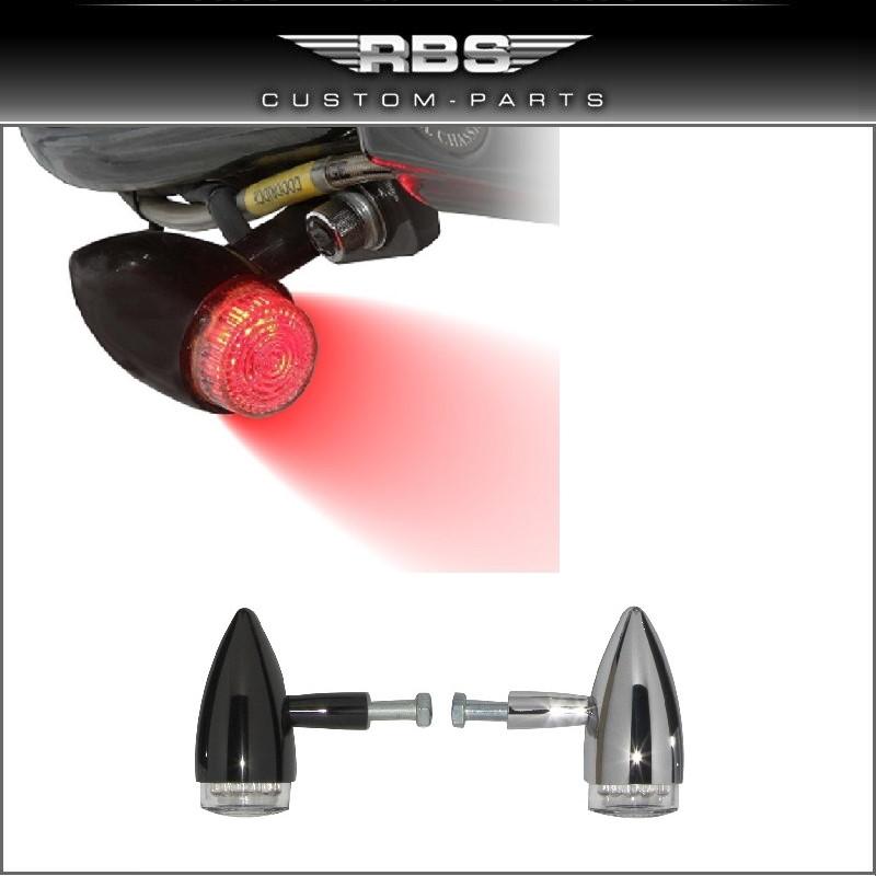 LED Bullet Style Nebelleuchte Foog Light Running Light Hochglanz verchromt