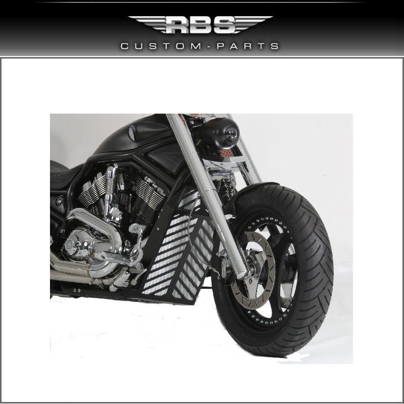 RBS V-ROD Kühlerverkleidung schwarz eloxiert