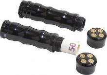 357 Magnum Bullet Style Gasgriffset hochglanz schwarz eloxiert