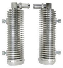 Ölkühlerpaar  für FLH Beinschilder Modelle hochglanz poliert