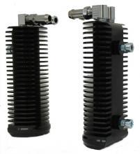 Ölkühlerpaar  für FLH Beinschilder Modelle hochglanz schwarz eloxiert