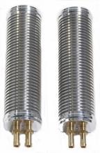 Ölkühlerpaar 190mm lang für alle EVO Softtail Modelle bis Baujahr 1999 hochglanz poliert