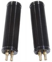 Ölkühlerpaar 190mm lang für alle EVO Softtail Modelle bis Baujahr 1999 hochglanz schwarz eloxiert