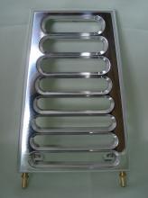 RBS Flachölkühler 29mm Rahmendurchmesser EVO Softail bis Baujahr 1999 hochglanz poliert