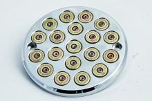 357 Magnum Bullet Style Zündungsdeckel EVO Softail bis Baujahr 1999 hochglanz verchromt