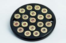 357 Magnum Bullet Style Zündungsdeckel EVO Softail bis Baujahr 1999 hochglanz schwarz eloxiert