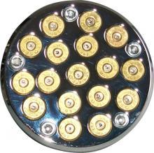 357 Magnum Bullet Style Zündungsdeckel Softail Twin Cam ab Baujahr 2000 hochglanz verchromt