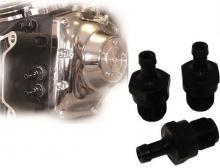 RBS Ölleitungsanschlüsse für alle Twin Cam Modelle schwarz eloxiert
