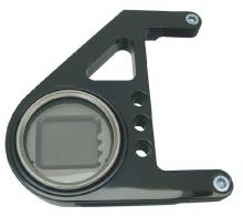 Mini Digital Tachoeinheit für alle EVO Softail Modelle Hochglanz schwarz eloxiert