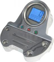 Mini Digital Tachoeinheit mit Lenkerklemme hochglanz poliert